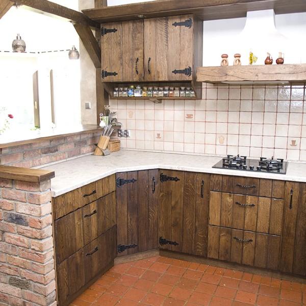 Nasze realizacje  Kuchnie Chojnaccy  Meble kuchenne  Rustykalne, tradycyjn   -> Kuchnie Drewniane Stylowe